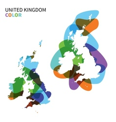 Abstract map of united kingdom isolated on white vector