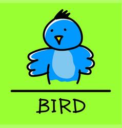 bird hand-drawn style vector image vector image
