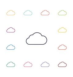 cloud flat icons set vector image