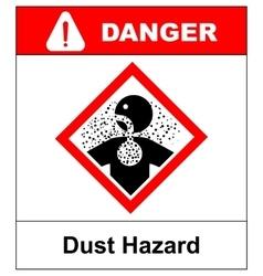 danger Dust Hazard sign vector image vector image