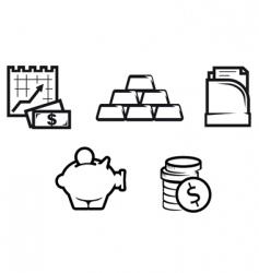 finance and economics symbols vector image vector image