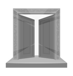 Gates to Valhalla icon in monochrome style vector image