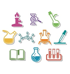 Science and chemistry icon set vector image