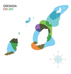 Abstract color map of Grenada vector image vector image