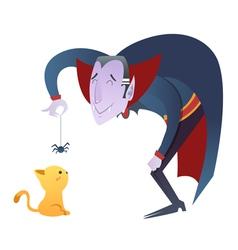 Cute cartoon Dracula vampire character vector image