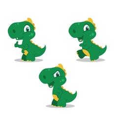 cute little dinosaurs vector image