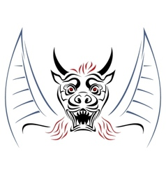 Devil on sketch vector image