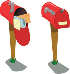 empty and full mailboxes vector image