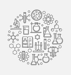 science and chemistry line symbol vector image vector image