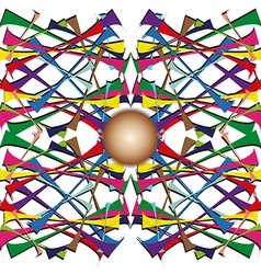 Brown ball on the colored line vector image