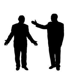 Businenessman silhouette vector image vector image