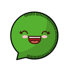 kawaii speech bubble icon vector image