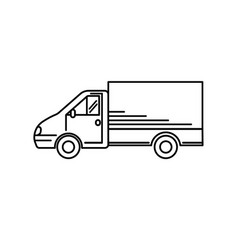 line art transport icon - vector image