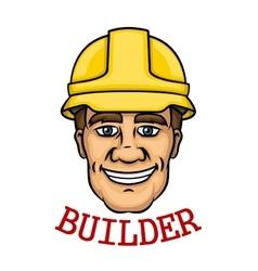 Smiling builder man in hard hat vector image