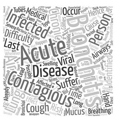 How long is bronchitis contagious text background vector