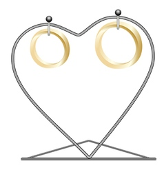 Rings on a rack vector image vector image