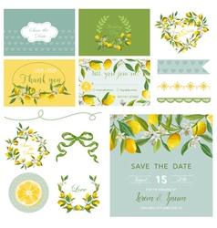 Scrapbook Design Elements Wedding Summer Flower vector image