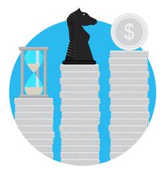 strategic financial step vector image vector image
