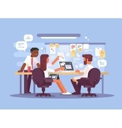 Work schedule working environment vector image vector image