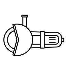 angle grinder tool icon outline style vector image