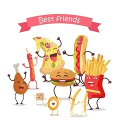 Best Friends Food Banner vector image