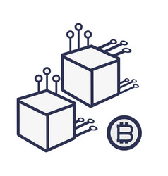 Bitcoins and nodes vector