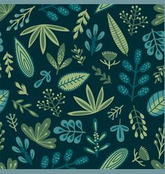 botanical seamless pattern design for vector image