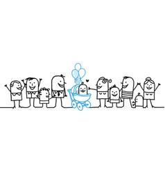 Cartoon people - new born baby vector