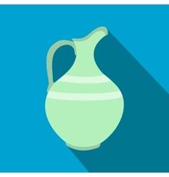 Ceramic jug flat icon vector image