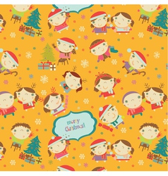 children pattern vector image
