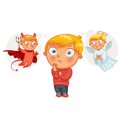 choice between good and evil cartoon character vector image
