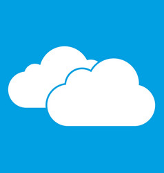 clouds icon white vector image