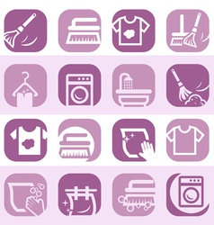 Color cleaning and washing icons vector