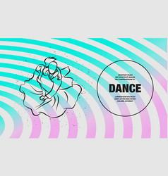 couple dancing tango outline dance vector image