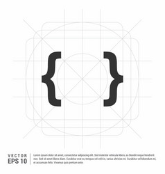 curly bracket icon vector image