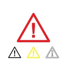 Danger symbol isolated vector