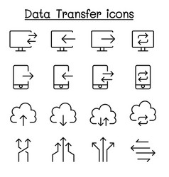 Data transfer internet network connection icon vector