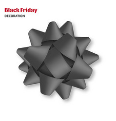 decorative black bow isolated on white background vector image