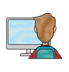 Desktop computer with user vector