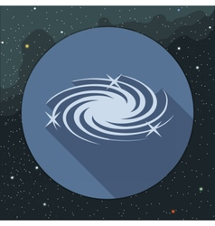 Digital milky way galaxy icon with stars vector image
