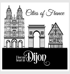 dijon - city in france detailed architecture vector image