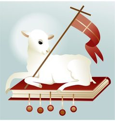 Easter lamb of God vector