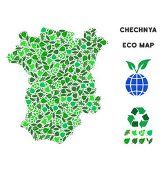 ecology green composition chechnya map vector image