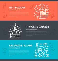 Ecuador flyer design vector