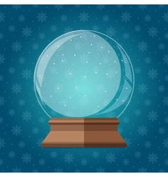 Empty magic snow globe christmas snowglobe gift vector