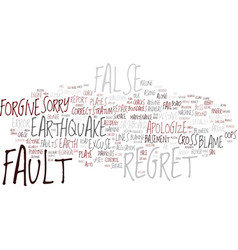 Fault word cloud concept vector