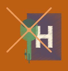 Flat icon in shading style helipad vector