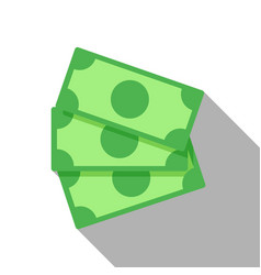 flat icon of money stacks of banknotes vector image