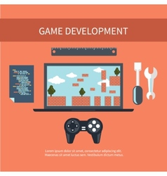 Game development concept vector image
