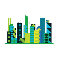 geometric city background vector image